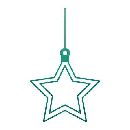 Dekoratives Ikonenvektorillustrationsdesign des Weihnachtssternes Standard-Bild - 92368702