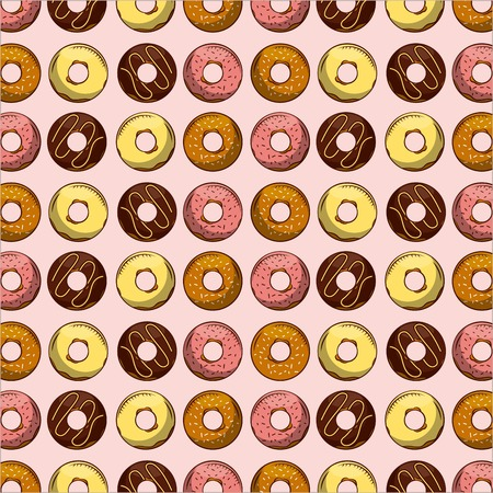 Donuts pattern. Illustration