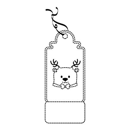 Christmas tag icon. Illusztráció