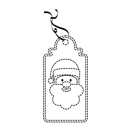 christmas tag hanging icon vector illustration design