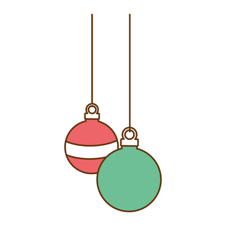 christmas ball hanging icon vector illustration design Stock Vector - 92366571