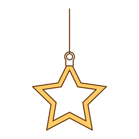 christmas star decorative icon vector illustration design Illustration