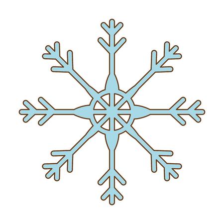 Snow flake isolated icon vector illustration design.