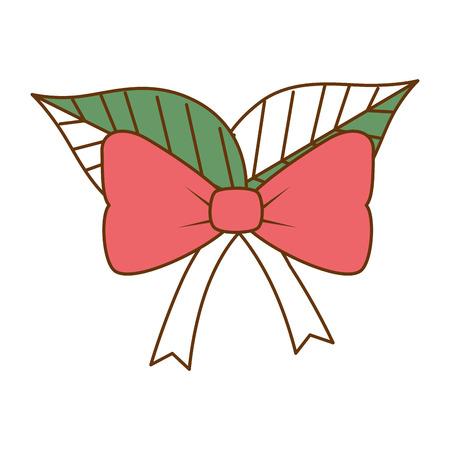 Christmas leafs decorative frame vector illustration design. Illustration