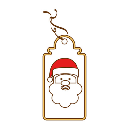 Christmas tag hanging icon vector illustration design. Иллюстрация
