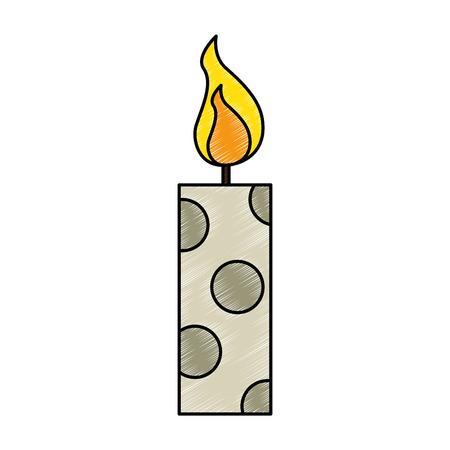 Velas de Natal ícone decorativo Ilustração vetorial design Foto de archivo - 92498228