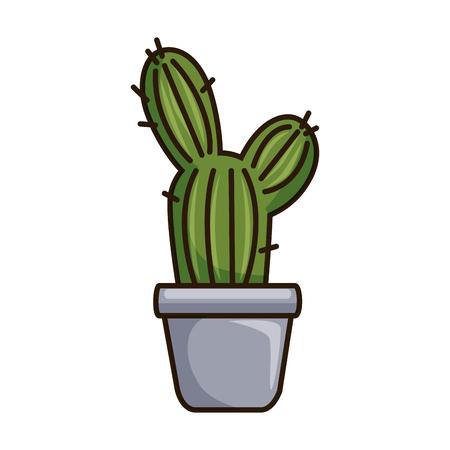 pot with desert plant vector illustration design Illustration