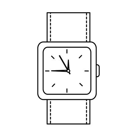 Watch square face time icon image illustration design.