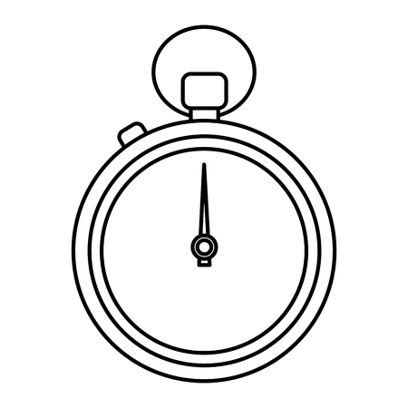 Stopwatch or chronometer time icon image  illustration design.