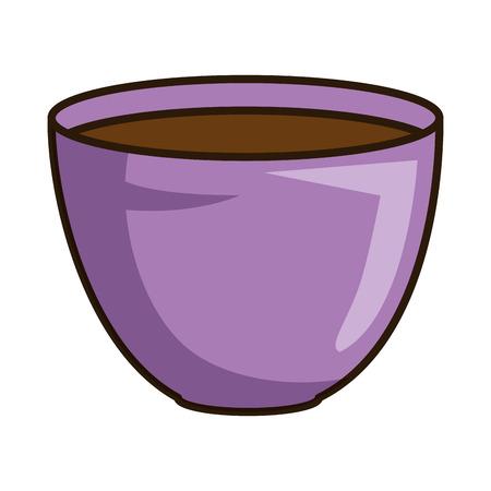 flower pot with earth vector illustration design