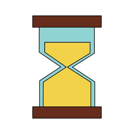 zandloper of sandglass pictogram afbeelding vector illustratie ontwerp