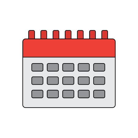 calendar blank icon image vector illustration design  Illustration
