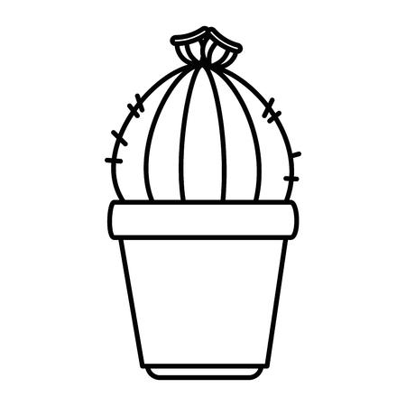 pot with desert plant vector illustration design Çizim