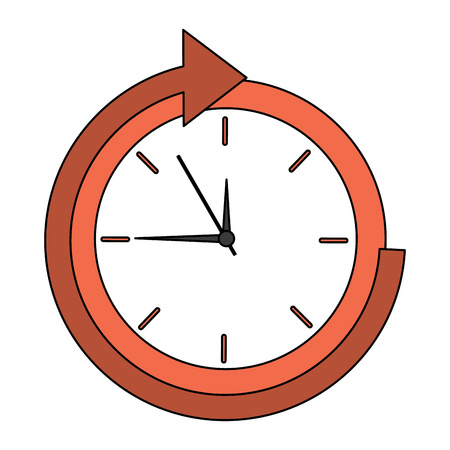 Clock with arrow time icon image illustration design.