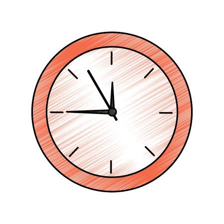 Clock time icon image illustration design.