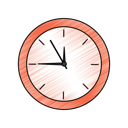 Clock time icon image illustration design.