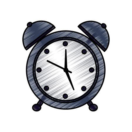 目覚まし時計時間アイコン画像イラストデザイン。  イラスト・ベクター素材
