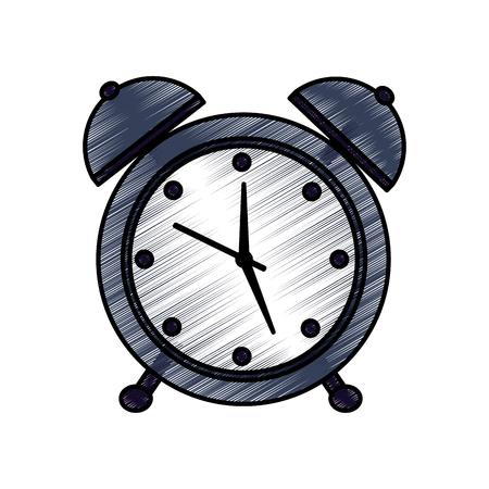 Alarm clock time icon image illustration design. Illustration