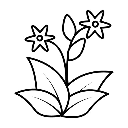 cute flower garden icon vector illustration design Stock fotó - 92498488