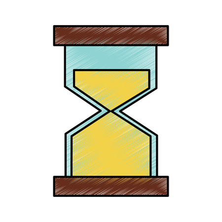 Hourglass or sandglass icon image illustration design.