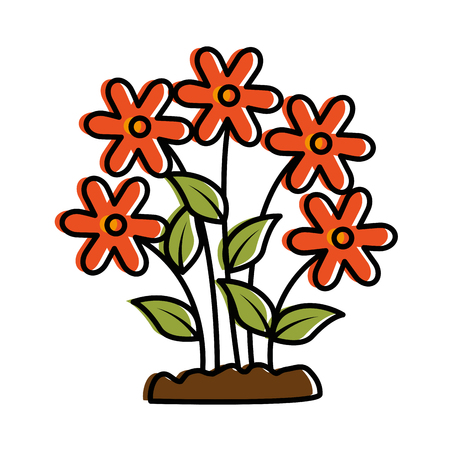 Cute flower garden icon vector illustration design. Illustration