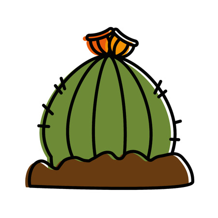 cactus desert isolated icon vector illustration design