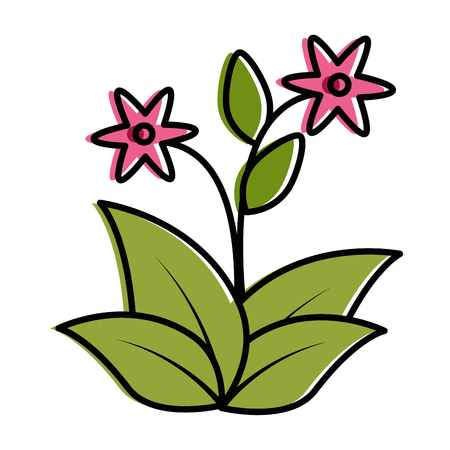 cute flower garden icon vector illustration design
