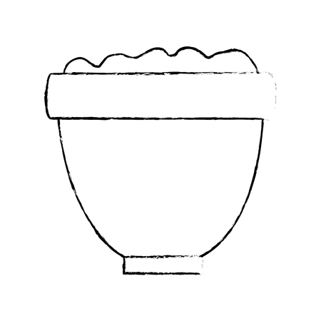 flower pot with earth vector illustration design