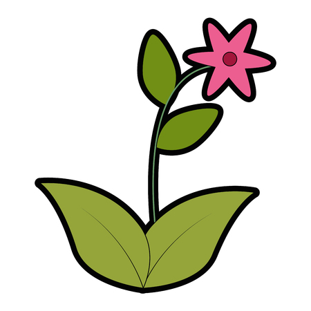 Cute flower garden icon illustration design. Illustration