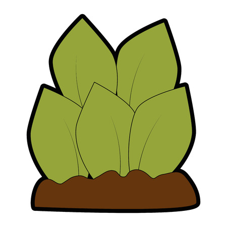 Plants cultivated isolated icon illustration design. Illustration