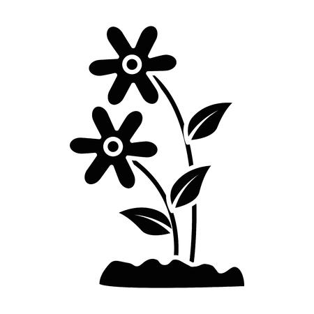Cute flower garden icon vector illustration design. Illusztráció