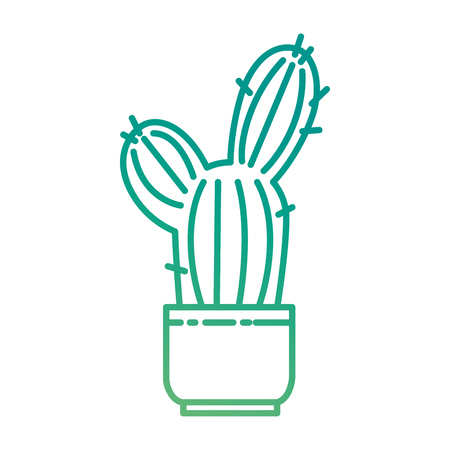 Cactus plant in pot illustration design.