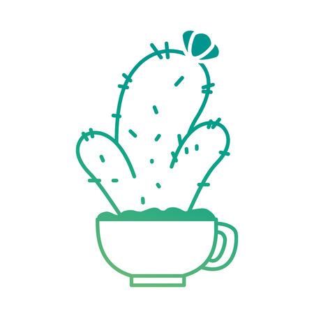 Cactus plant in pot illustration design.