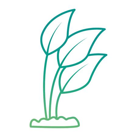 植物栽培葉分離アイコンイラストデザイン。  イラスト・ベクター素材