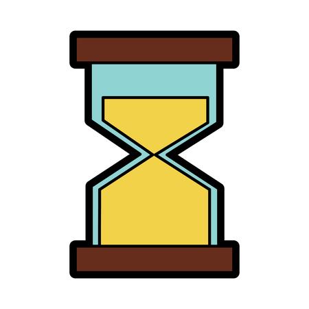 모래 시계 또는 모래 시계 아이콘 이미지 벡터 일러스트 레이 션 디자인.