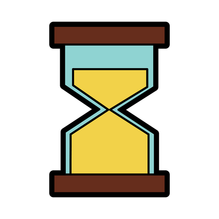 Hourglass or sandglass icon image vector illustration design.