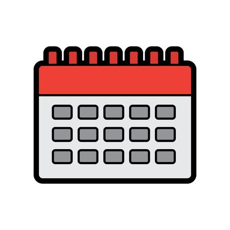 Calendar blank icon image vector illustration design.
