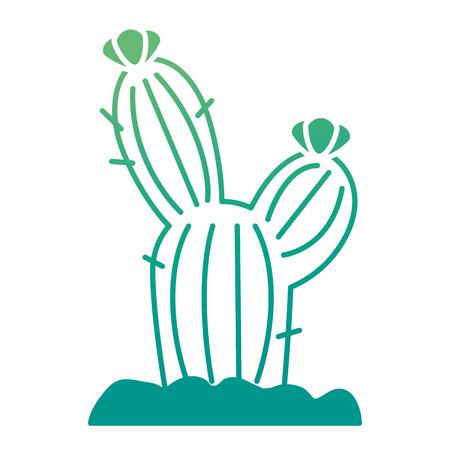 サボテン砂漠隔離アイコンベクトルイラストデザイン  イラスト・ベクター素材