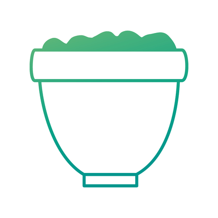 flower pot with earth vector illustration design Stok Fotoğraf - 92370166