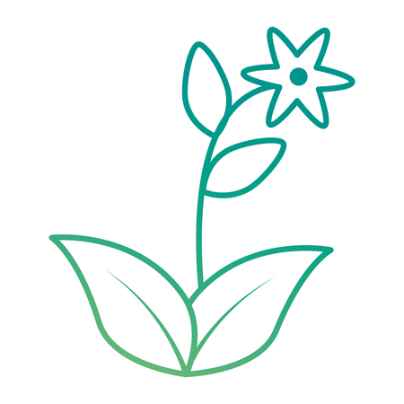 cute flower garden icon vector illustration design