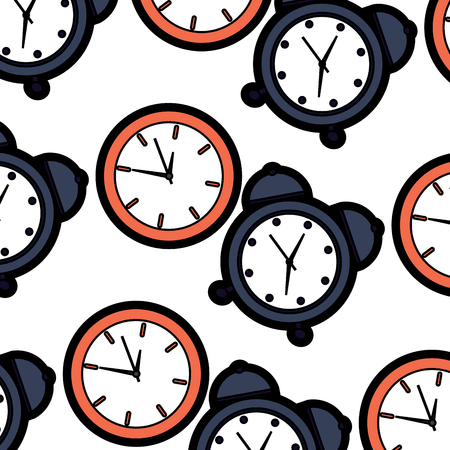 Alarm clock time pattern image illustration design.