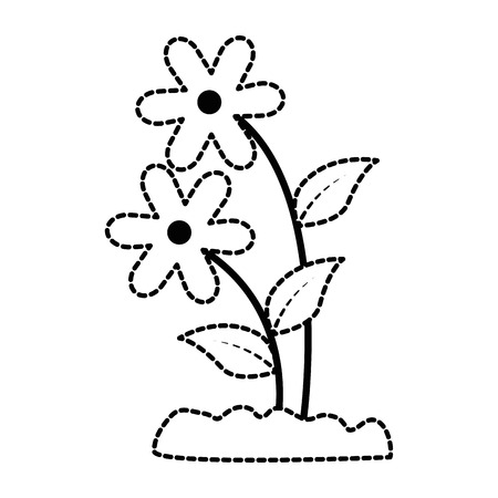 House plant in pot illustration design.