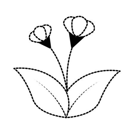 Cute flower garden icon illustration design. Illusztráció