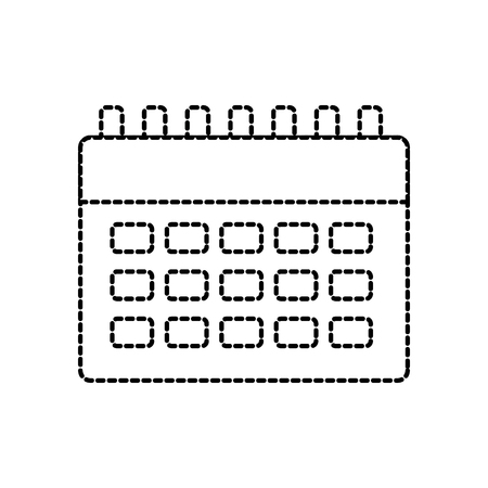 Calendar blank icon image illustration design in black dotted line.