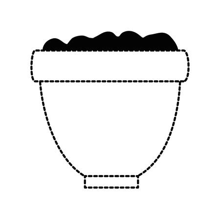 Vaso di fiori con progettazione dell'illustrazione del suolo. Archivio Fotografico - 92412415