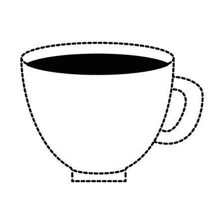 Flower pot with soil illustration design. Illustration