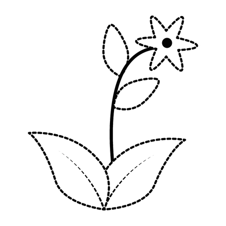 Cute flower garden icon illustration design. Illustration