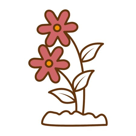 Flower  icon illustration design. Illustration
