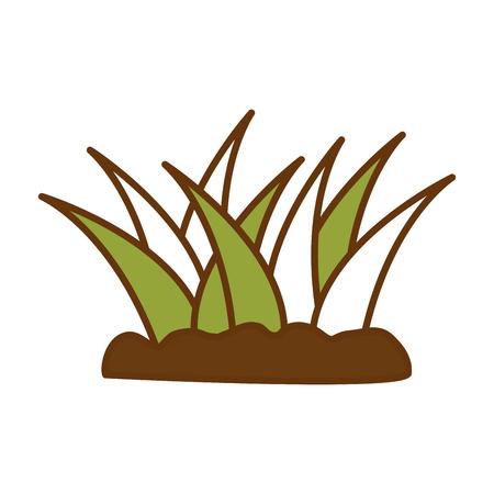 栽培植物分離アイコンイラストデザイン。  イラスト・ベクター素材