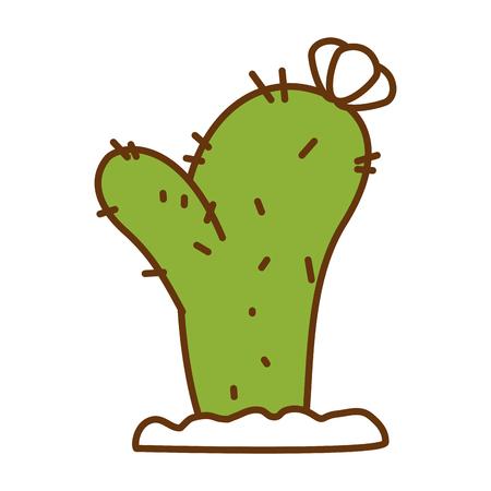 サボテン砂漠植物分離アイコンイラストデザイン。  イラスト・ベクター素材
